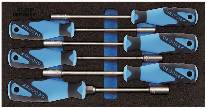 Gereedschapsmodule B.157,5xD.310mm 6-dlg. sets dopsleutels GEDORE