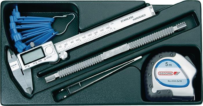 Gereedschapsmodule 157,5x310mm 6dlg. meetinstrumenten
