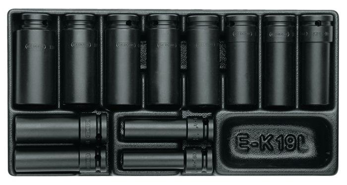 Gereedschapsmodule 157,5x310mm 19-dlg. Steekgereedschap 1/2inch