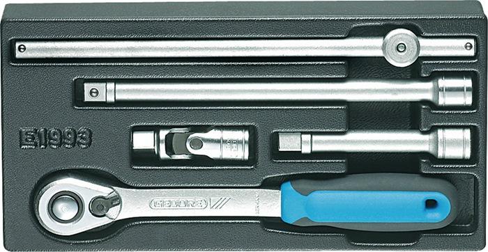 Gereedschapsmodule 157,5x310mm 5-delig steekgereedsch. 1/2 inch 2-comp.-greep