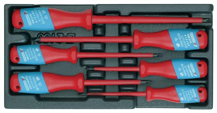 Gereedschapsmodule D.310mmxB.157,5mm 6-dlg. VDE-schroevendraaiers Sleuf/PZD