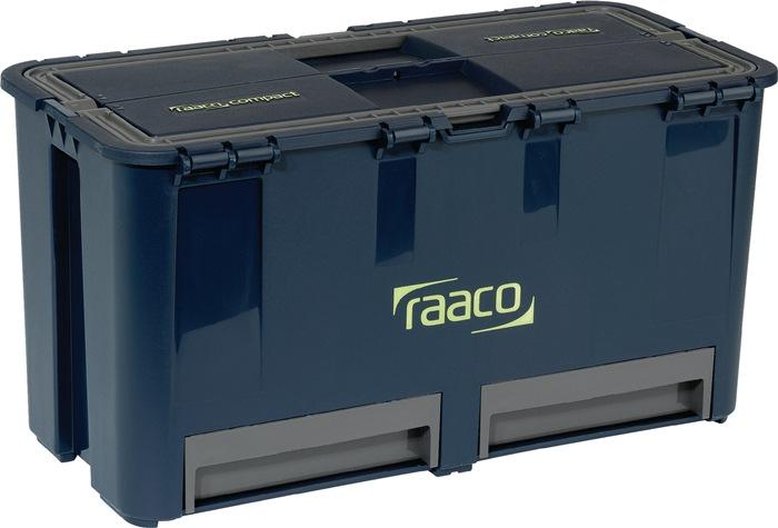 Gereedschapskoffer Compact 6 vakken/2 laden+gereedschapshouder draagverm. 30 kg
