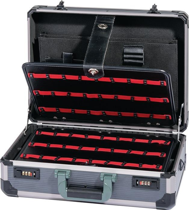 Gereedschapskoffer alu-frame 2 gereedschapstabl. comfortgr afneembare draagriem