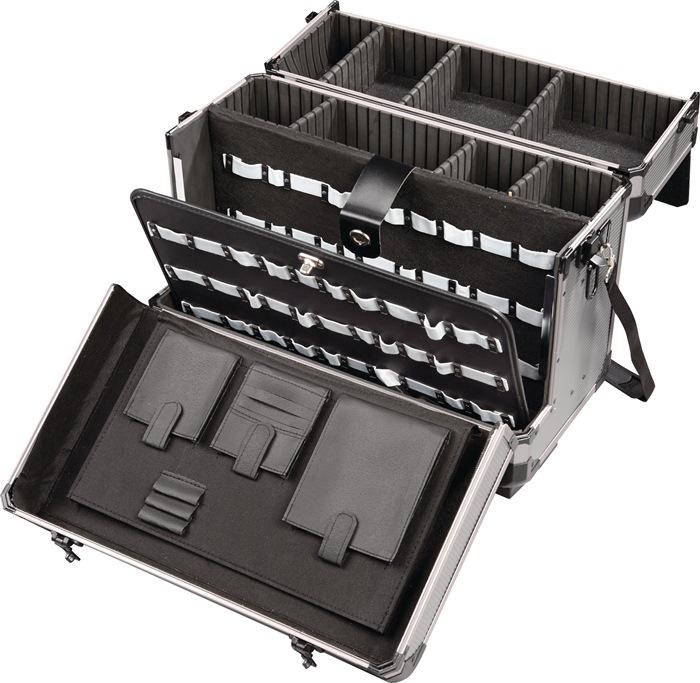 Gereedschapskoffer B490xD.245xH.355mm rolbaar alu-frame comfortgreep m.rijgreep