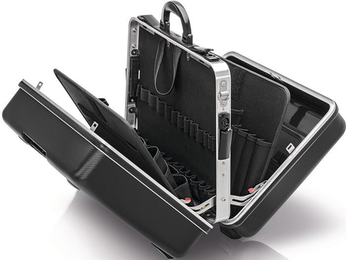 Hardknststfkoffer BIG Twin ABS-knststfalu-frame gereedschapstableau+-houder