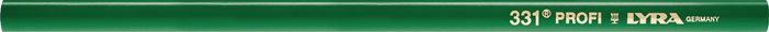 Steenhouwerspotlood 331 30cm ovaal geslepen groen gepol. LYRA