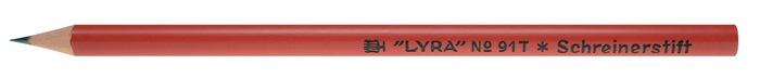 Timmermanspotlood 91T 17,5 cm rond rood hardheid 2H ongeslepen LYRA