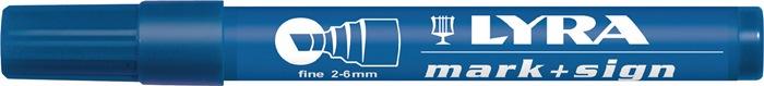 Permanentmarker blauw streepbr.2-6mm watervast LYRA