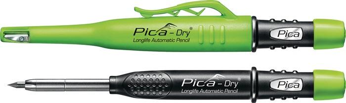 Merkstift voor diepe gaten Pica-Dry m.koker/clip v.boringen/gaten tegels/metaal
