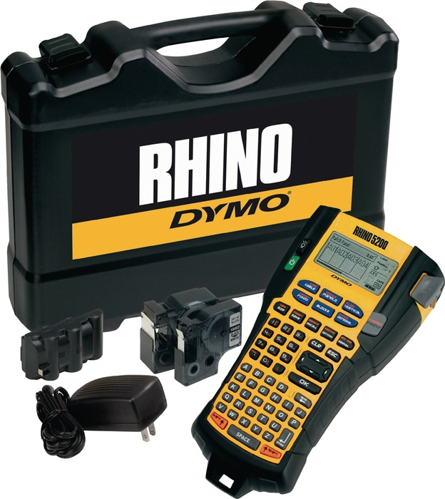 Labelp. DYMO Industrial Rhino 5200 let.br.6,9,12,19mm st. kof. taf.ts. 2 labelt.