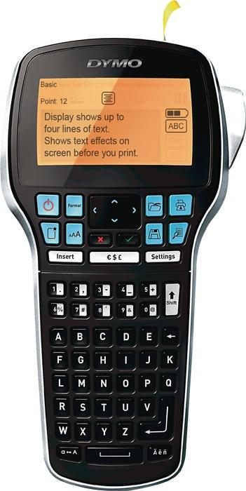 Labelp. DYMO LabelM. LM420P let.br. 6, 9, 12, 19mm mob.app. 1 lab.t. B12mm zwart