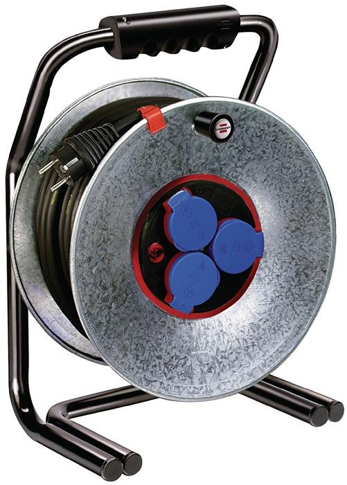 Kabelhaspel blik L.40m 3xgeaard H07RN-F 3x1,5mm2 BRSTUHL m.therm.beveilig