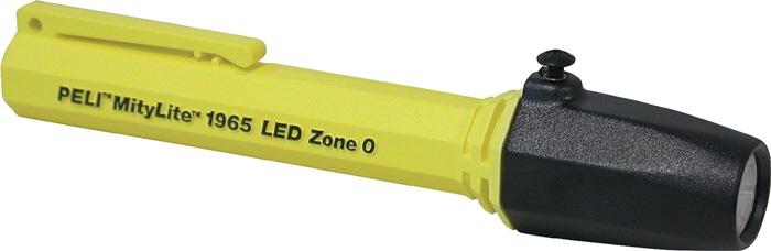Zaklamp LED, spatwaterbest. LED 0,5W 25lm 2xAAA ATEX-EX geel L.139mm Ex geel