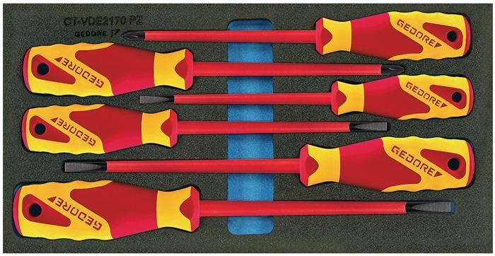Ger.mod. D310mmxB.157,5mm 6D VDE-schroevendraaiers sl./PZD GEDORE