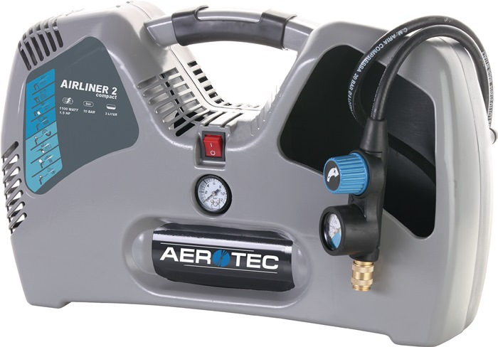 Compressor Airliner 2 compact olievrij 200l 110l 2l 10bar 1,1kW 230/50 V/Hz
