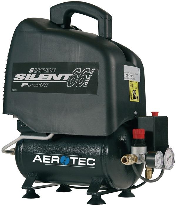 Compressor Vento Silent 6 110L/90L/6L/8bar/0,7kW draagbaar 230V AEROTEC
