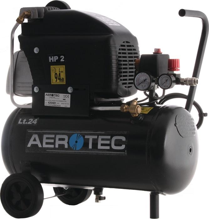 Compressor 220-24 210L/130L/8bar/24L/1,5kW verrijdbaar 230V AEROTEC