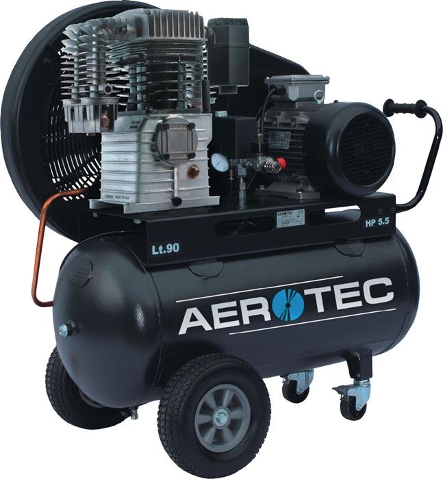 Compressor 780-90 780L/520L/90L/10bar/4,0kW verrijdbaar 400V AEROTEC