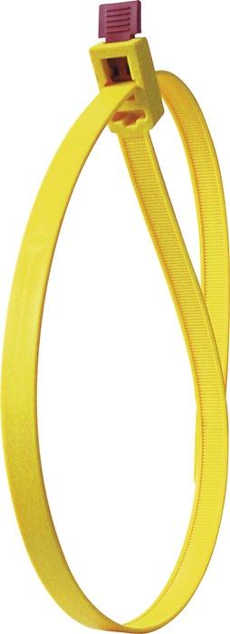 Kabelbinders SpeedyTie B.12xL.750mm geel HELLERMANN TYTON bundel-Ø. 210mm