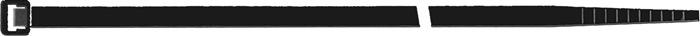 Kabelbinder l. 280mm b. 3,5mm bun.d. 80mm zwart UV-b. m.binnenvert. 100 st./zk