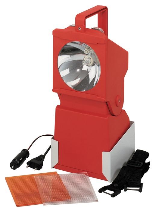 Werk-/noodstrverl.HaloLux 90A LED rood, lichtafst.100m lichtdr 200/3h opladn 18h