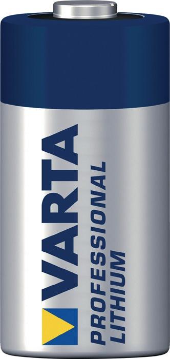 Speciale batterij CR123A capaciteit 1450 mAh, maten 34,5x17,0mm spanning 3V