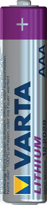 Spec batt. 6103 cap. 1100 mAh spnng 1,5V micro 44,5x10,5mm lithium 2st./blister