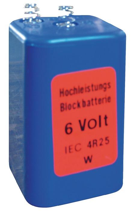 Blokbatterij 4R25 spanning 6v 4R25