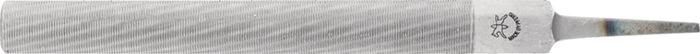 Houtvijl DIN 7263, Form C L.200mm doorsn. 20x6mm half-rd. z.heft m.spiraalkap
