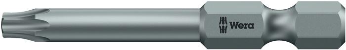 Bit TORX 25 L.50mm 1/4 inch 6KT Ø6,3 taaihard kaart m. 2 st. 867/4 inch TX 25 SB