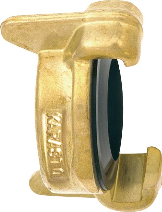 Slangafsluitkoppel. passend bij slang- en schroefdr.stukken mess. ZV Karasto