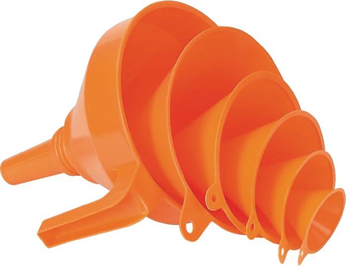 Trechterset PE-6-dlg 6-dlg olie-/zuurbestendig 50-75-100-120-150-160mm