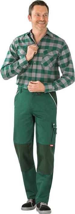 Broek m.tailleband Terratrend Job Revolution mt.58 groen/zwart 65%PES/35%BW