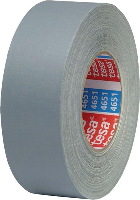 Textielversterkte tape 4651 lengte 50m B. 50mm grijs celwolweefsel TESA