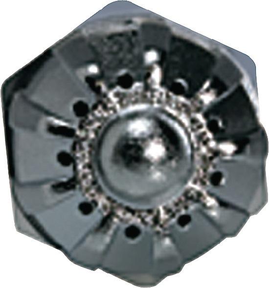 Rond mondstuk, geluidsarm M 12 x 1,25 Serie 22 Zink-persgietijzer 1 stuk RIEGLER