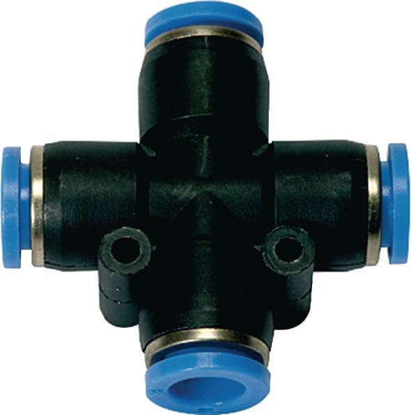X steekverbinding blauwe serie voor slangbuiten-d. 10 mm L1 27,9 mm RIEGLER