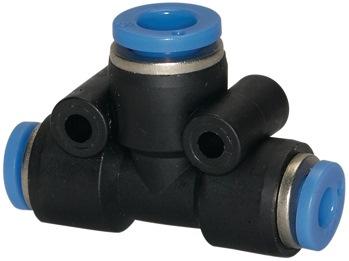 T-stkverb. gereduceerd blauwe ser. v. sl.buit.-d. 2x8 / 1x6 mm L1 22,5 mm st.