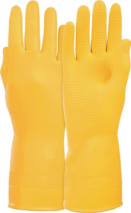 Handschoenen Super mt.7 natuurlatex gevelouriseerd .300mm levensmiddelengeschikt