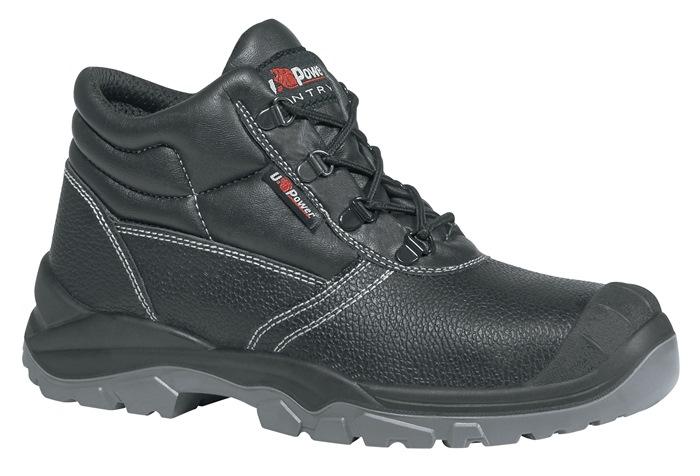 Veiligheidsrijglaarzen ENISO20345 S3 SRC Safe UK mt.41 rundleer zwart staalneus