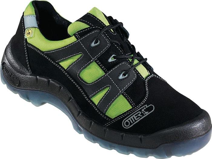 Veiligheidsschoen EN20345 S2 mt.47 nr.93721-524 textiel velours zwart/groen
