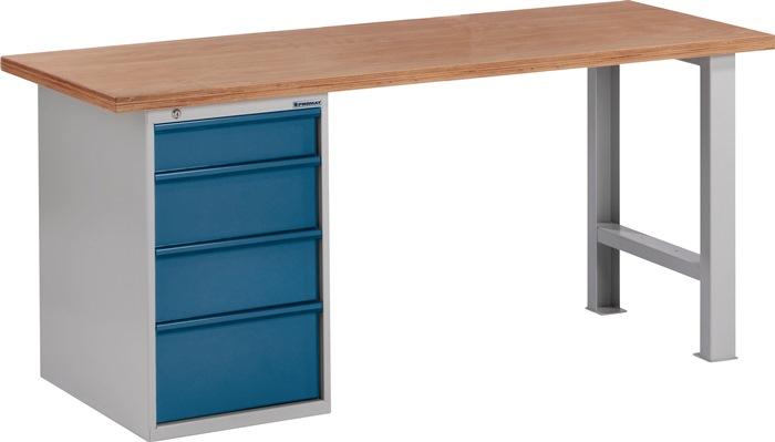 Werkbank BT495 Promat b2000xd700xh840mm grijs/blauw lade1x125 2x175 1x225mm