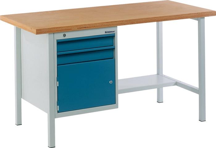 Werkbank BT 495 Promat b1500xd700xh840mm grijs/blauw lade2x75 deur1x350mm 1plank