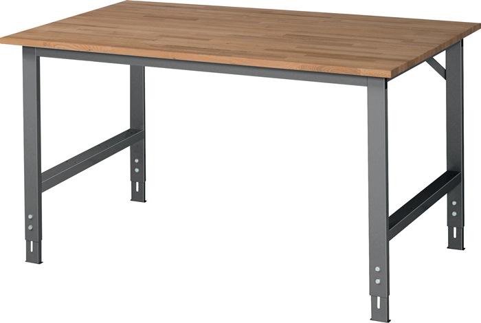 Werktafel b1500xd1000xh760/1080mm 22mm beuken-plaat frame antraciet