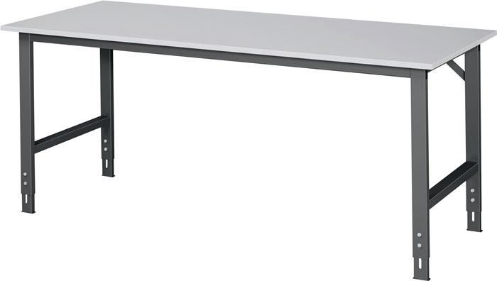 Werktafel b2000xd800xh760/1080mm 22mm melamine-plaat frame antraciet