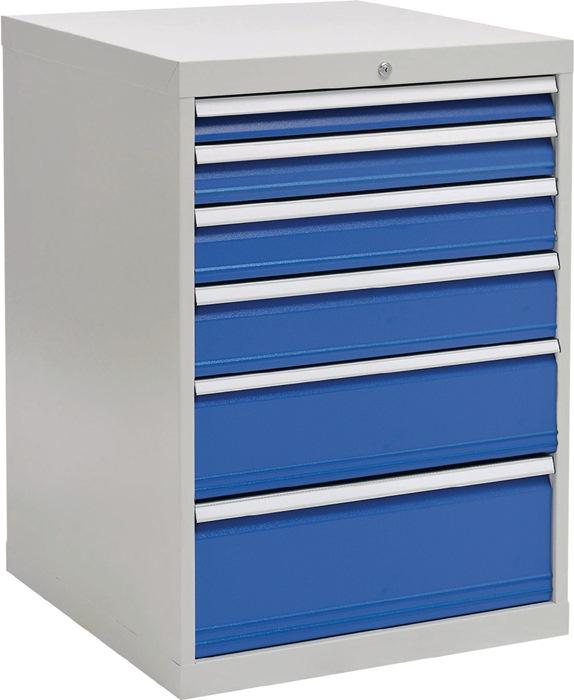 Ladekast h1019xb705xd736 grijs/blauw 1x75 1x100 1x125 1x150 1x200 1x250