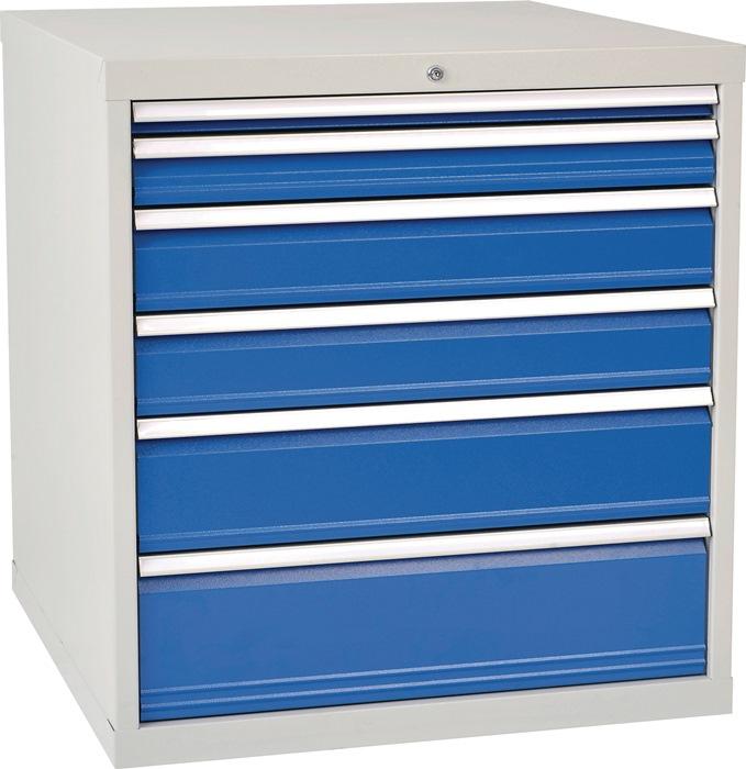 Ladekast h1019xb1005xd736 grijs/blauw 1x75 1x100 1x125 1x150 1x200 1x250