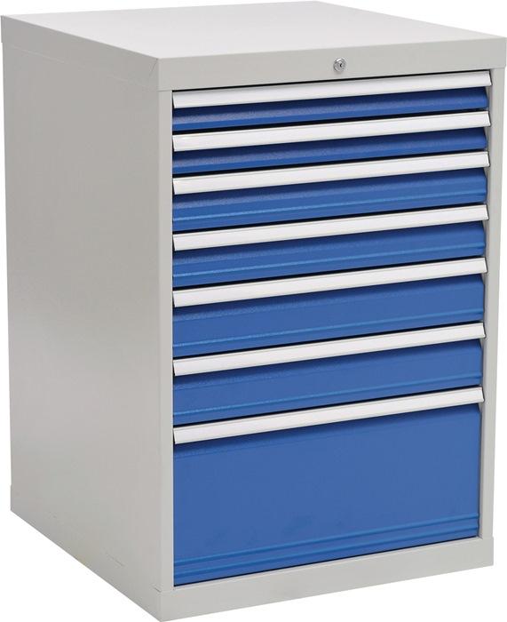 Ladekast h1019xb705xd736 grijs/blauw 2x75 2x100 2x125 1x300