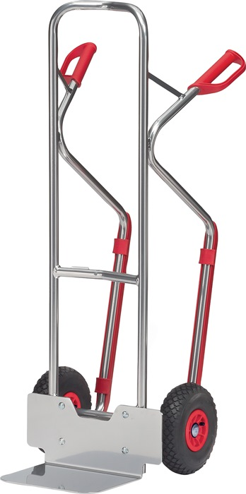 Stkw. alu. m.glij-ijzers H.1300mm stk-mt.L.250xB.320mm drgv. 200 kg m.luchtb.