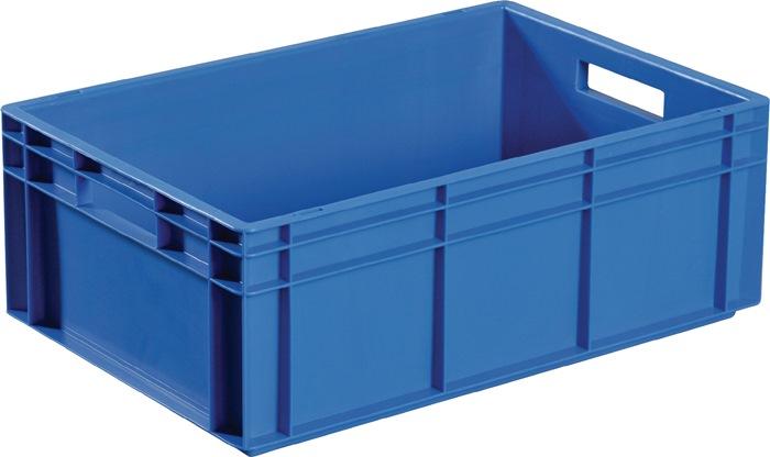 Transportstapelbak blauw L400xB300xH120mm zijwanden gesloten schelpgreep PROMAT