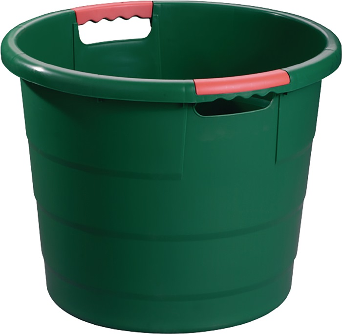Kunststof kratten 70l rond d.550xh425mm groen GRAF